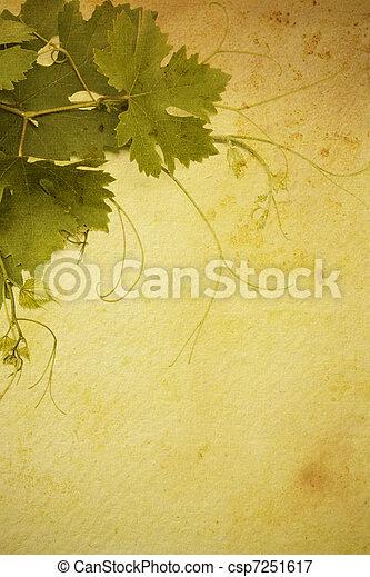 art  vintage style wine list  design - csp7251617