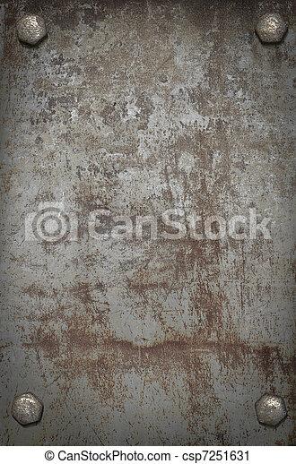 Art grunge metal plate with screws - csp7251631