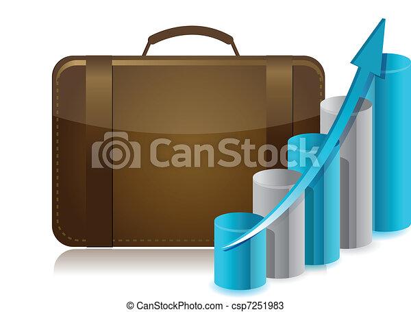 business briefcase illustration - csp7251983