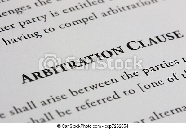 forex arbitration clause in contract