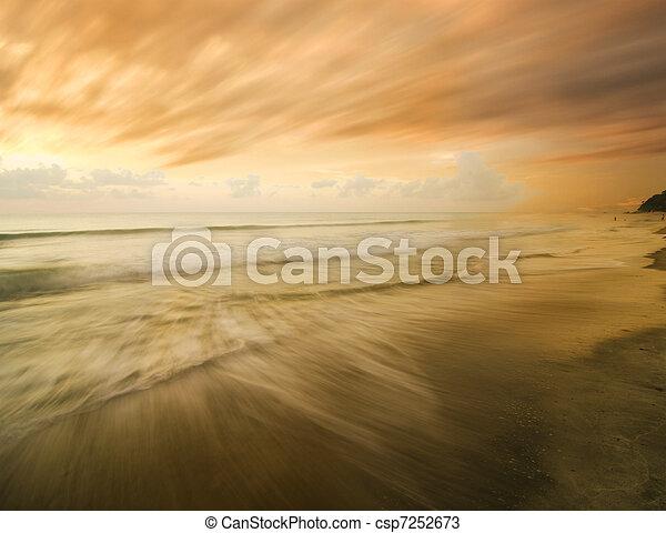 beach and sunset - csp7252673