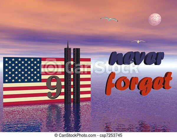 9-11 never forget - csp7253745