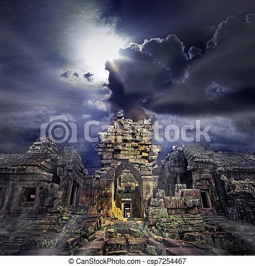 Temple ruins - csp7254467