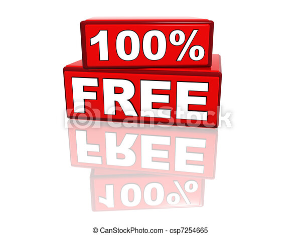 100 percent free - csp7254665