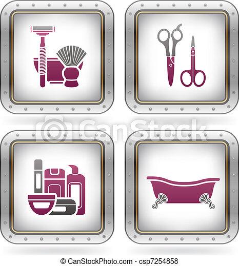vecteur de ustensiles bain salle bains ustensiles et autre csp7254858 recherchez des. Black Bedroom Furniture Sets. Home Design Ideas