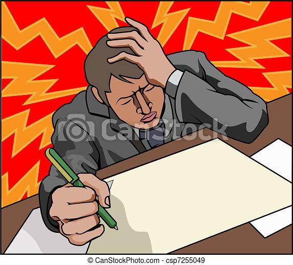 Stressed business man - csp7255049