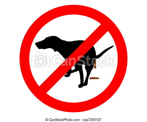 Traffic sign: It?s forbidden for dogs to take a dump - csp7255127