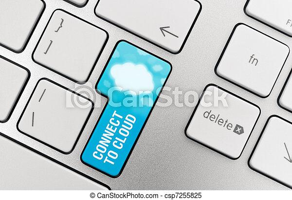 Cloud Computing Connect Button - csp7255825