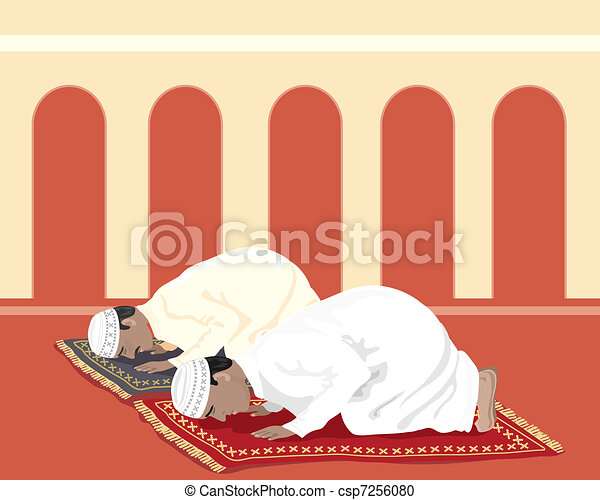 muslims praying - csp7256080