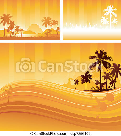 Tropical background design - csp7256102