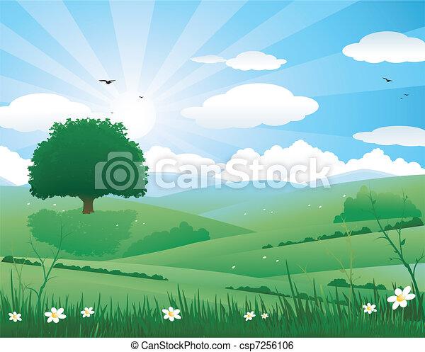 Nature landscape - csp7256106