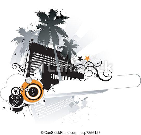 Urban tropical design - csp7256127