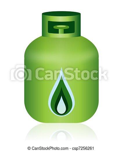Clipart de natural gas verde botella icono esto for Imagenes de gas natural