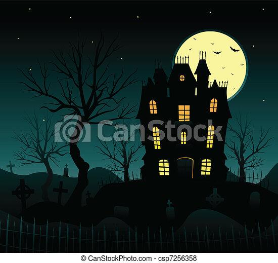 Halloween background - csp7256358