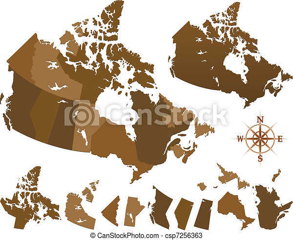 Canada map - csp7256363