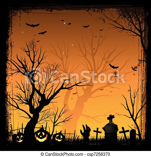 Halloween frame - csp7256370