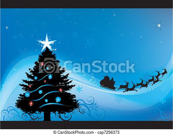 Christmas night background - csp7256373