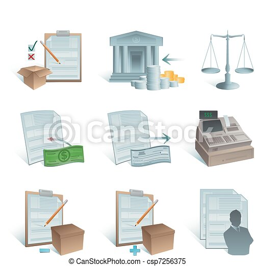 Accounting icons - csp7256375