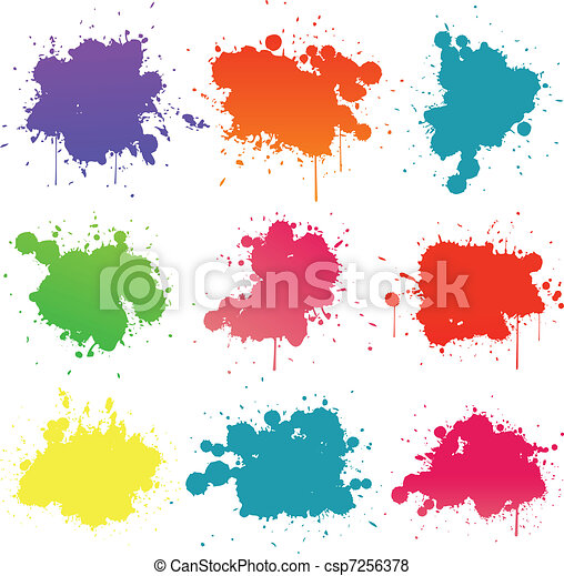 Paint splat collection - csp7256378