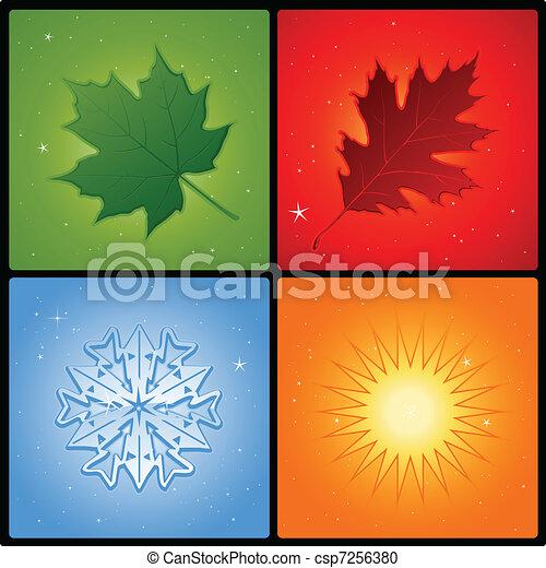 Four season background - csp7256380