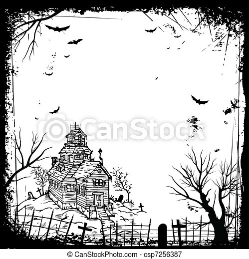 Halloween frame - csp7256387