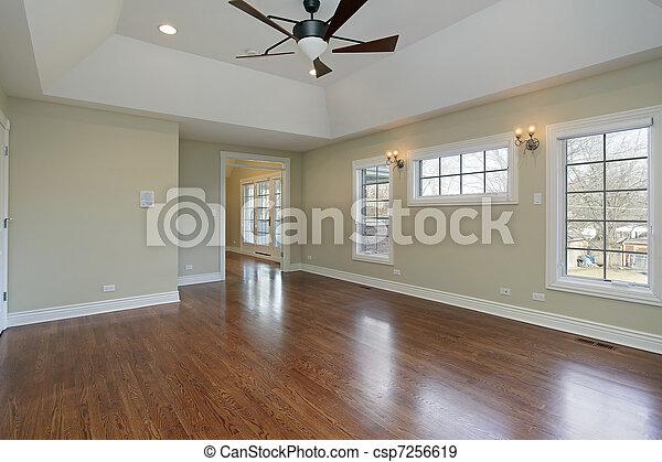 Master bedroom in remodeled home - csp7256619