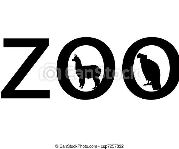 Zoo animals - csp7257832