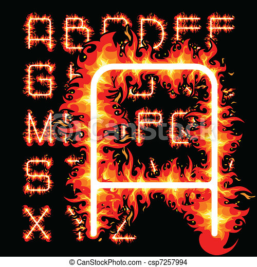 fire alphabet - csp7257994