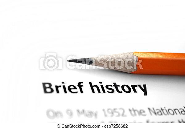 Brief history  - csp7258682