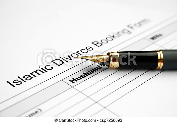 Divorce form  - csp7258893