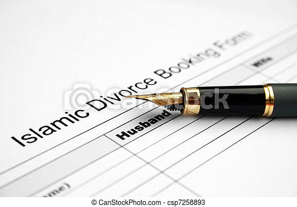 Divorce form  - csp7258893