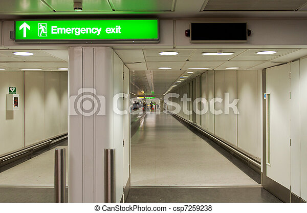 Emergency exit sign - csp7259238