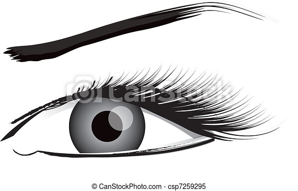 Eye Illustration In Black And White - csp7259295