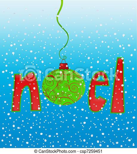 Noel in Snowflakes - csp7259451