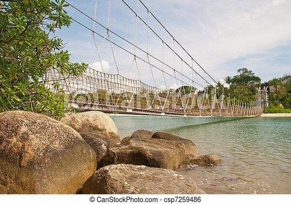 Long suspension bridge - csp7259486