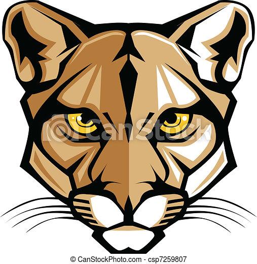Cougar Panther Mascot Head Vector G - csp7259807