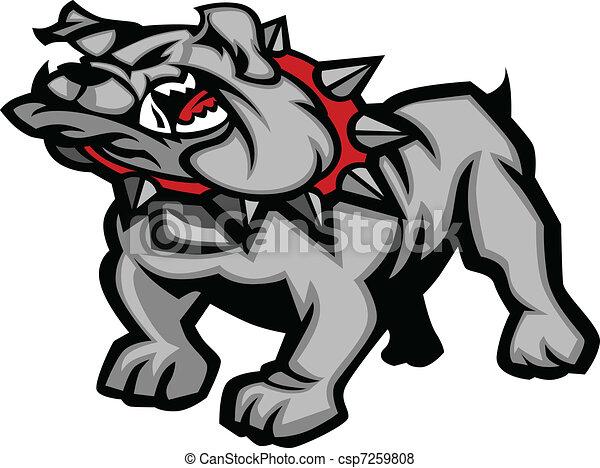Bulldog Mascot Body Vector Illustra - csp7259808