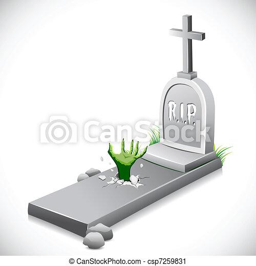 Grave Stone - csp7259831