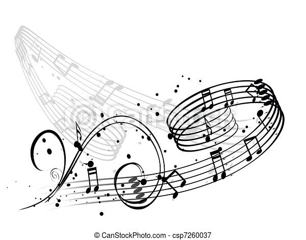 Illustrations vectoris es de notes musique fond - Note musique dessin ...