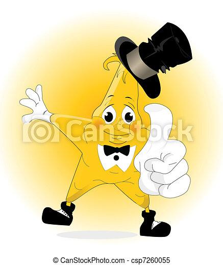 smiling cartoone star - winner icon - csp7260055