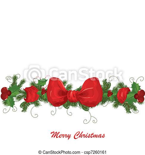 Vektor Weihnachten Girlande