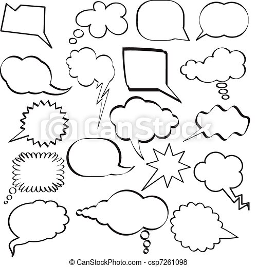 Speech bubbles - csp7261098