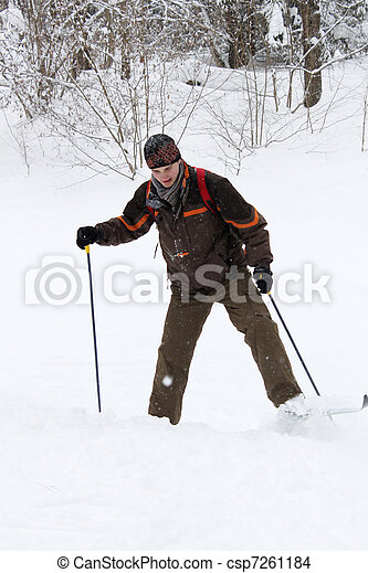 dilettante cross-country skier - csp7261184