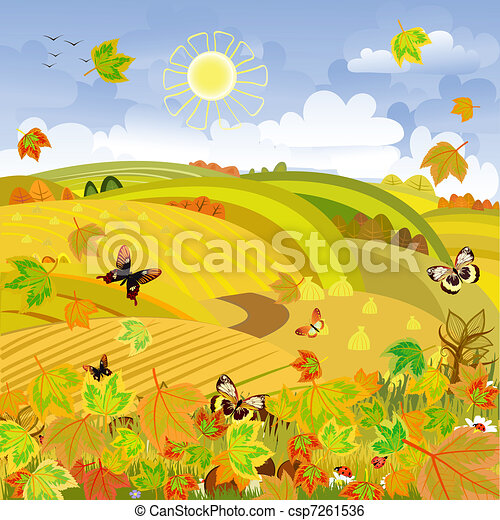 Autumn Landscape rural expanses - csp7261536