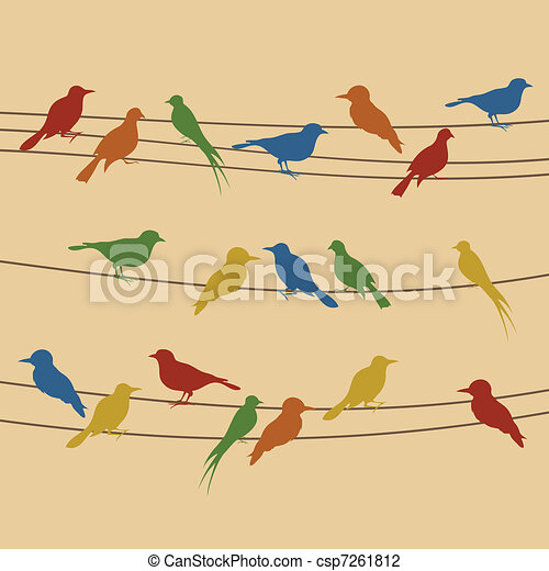 Bird on a wire - csp7261812