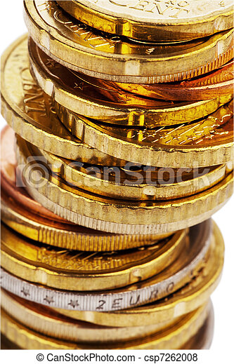 A stack of coins - csp7262008