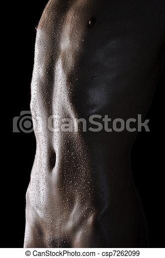 Men\'s chest and abdomen