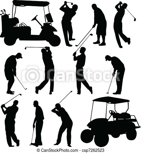 Golfers collection - csp7262523