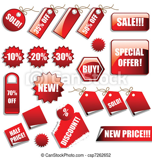 Sales Tags and Stickers - csp7262652