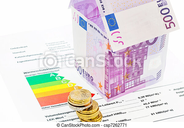 House from € banknotes and Energy Performance Certificate - csp7262771